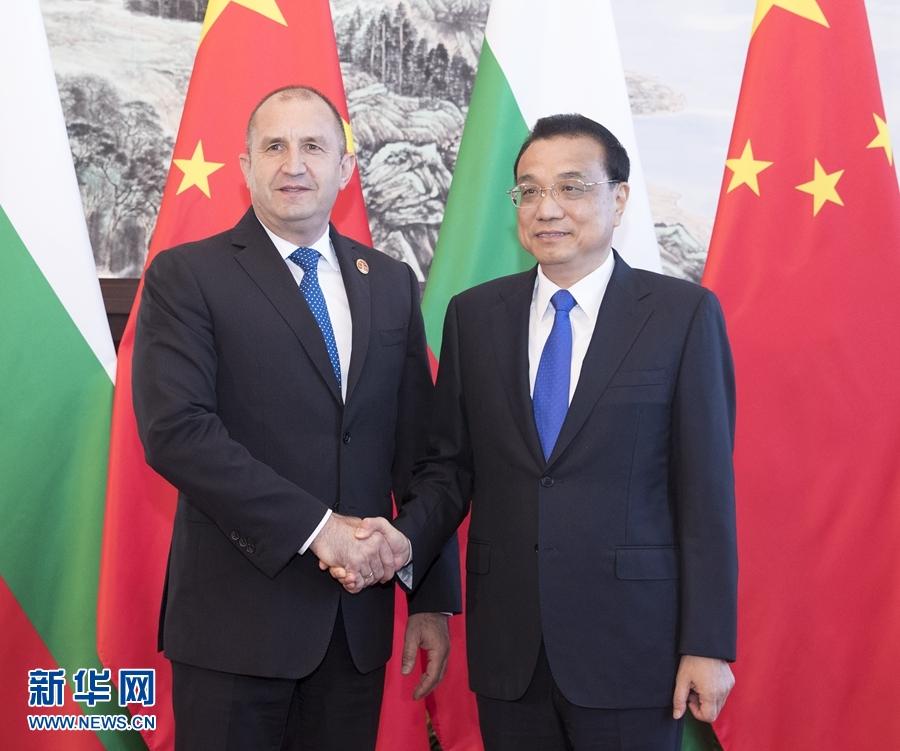 李克强会见保加利亚总统拉德夫