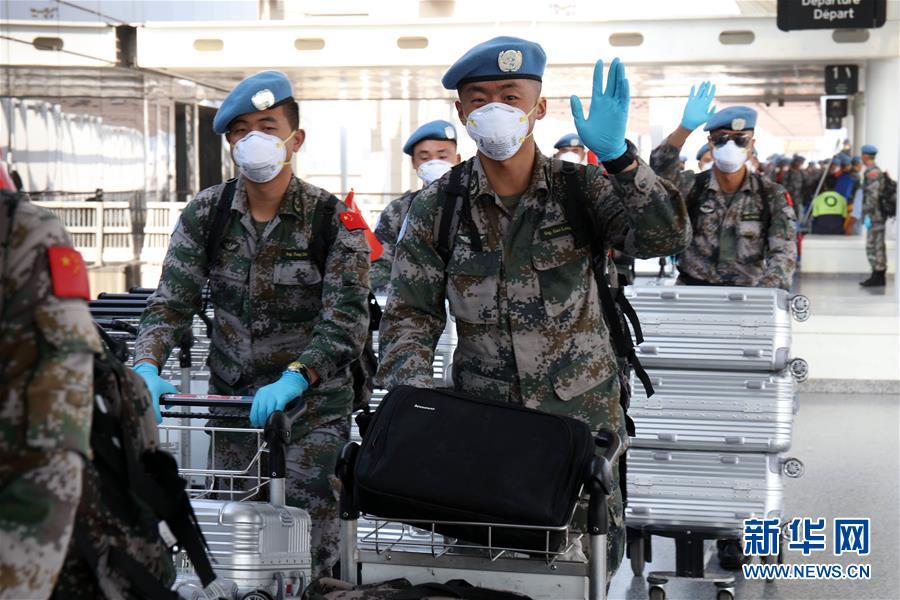 中国第18批赴黎维和部队第一梯队启程回国