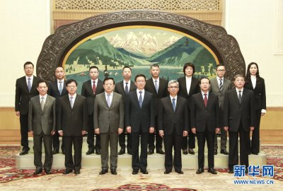 韩正会见澳门特别行政区纪律部队高层代表团