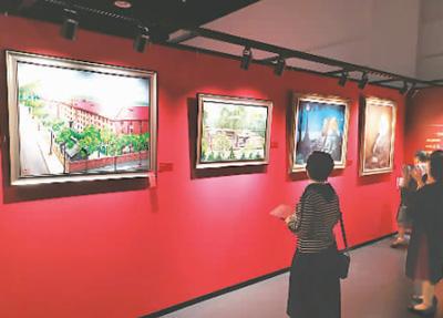 红色油画寻根革命圣地